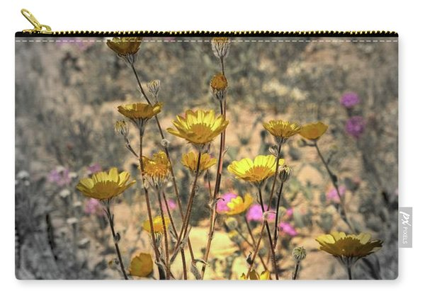 Carry-all Pouch featuring the photograph Desert Spot Daisy by Michael Hope
