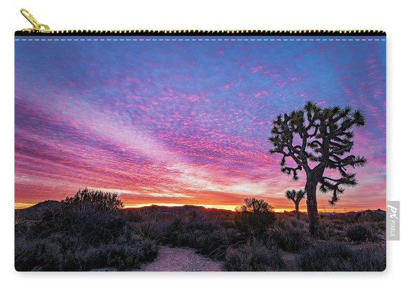 Desert Sunrise At Joshua Tree Carry-all Pouch