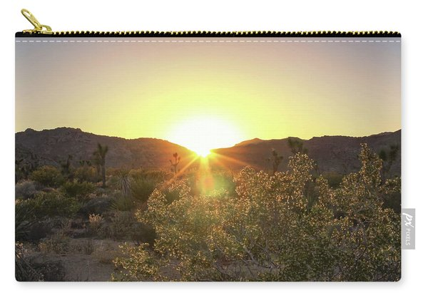 Carry-all Pouch featuring the photograph Desert Sunset by Alison Frank