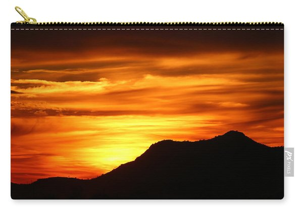 Carry-all Pouch featuring the photograph Desert Sunset  by Christy Pooschke