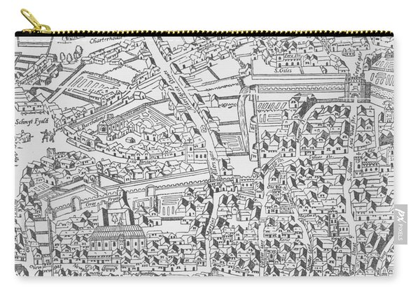 Detail Of London Wall East Of Smithfield From Civitas Londinium Carry-all Pouch