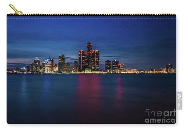 Detroit At Night 4 Carry-all Pouch