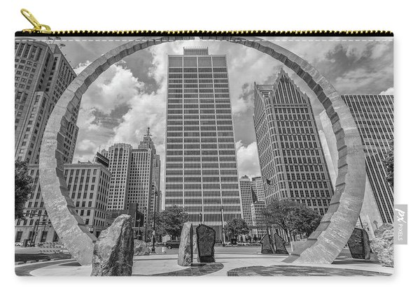 Detroit Hart Plaza And Cityscape  Carry-all Pouch