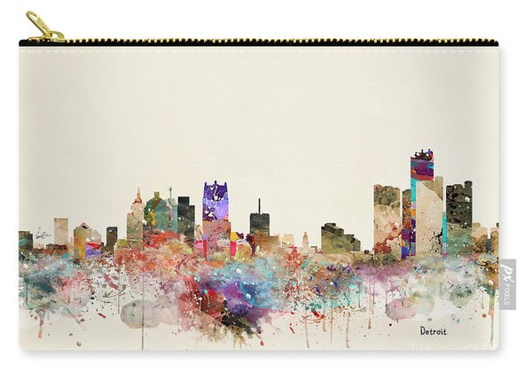 Detroit Michigan City Skyline Carry-all Pouch