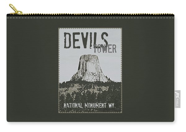 Devils Tower Stamp Carry-all Pouch