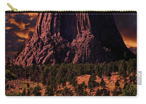 Devils Tower Sunrise Carry-all Pouch