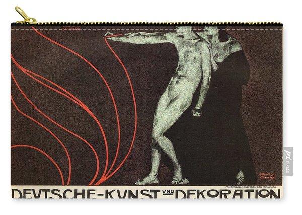 Deutsche-kunst Und Dekoration - German Art - Retro Travel Poster - Vintage Poster Carry-all Pouch