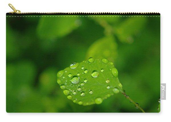 Dew Dappled Leaf Carry-all Pouch