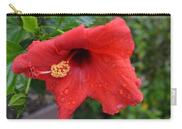 Dew On Flower Carry-all Pouch