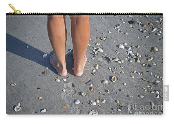 Dez Feet On Beach Carry-all Pouch