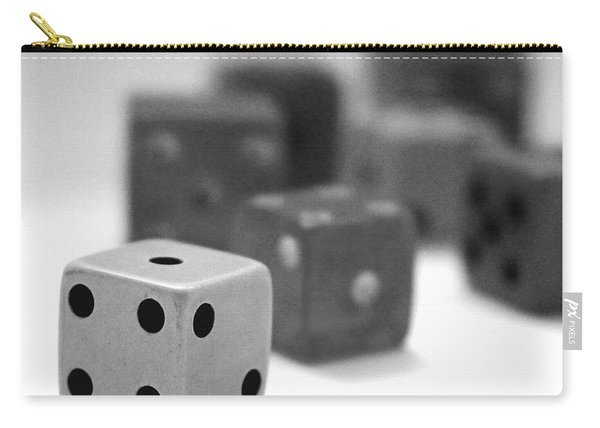 Dice 1- Black And White Photo By Linda Woods Carry-all Pouch