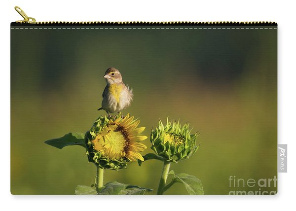 Dickcissel Sunflower Carry-all Pouch