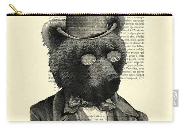 Bear Portrait - Animals In Suits Carry-all Pouch