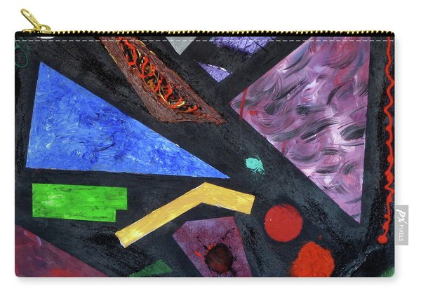 Carry-all Pouch featuring the painting Differences by Michael Lucarelli