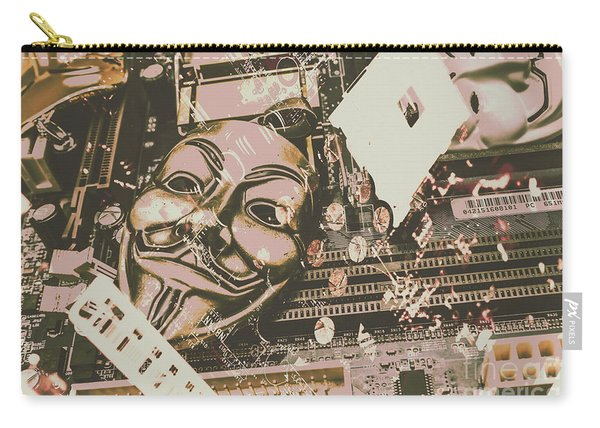 Digital Anonymous Collective Carry-all Pouch
