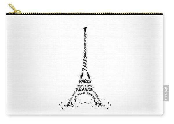 Digital-art Eiffel Tower Carry-all Pouch