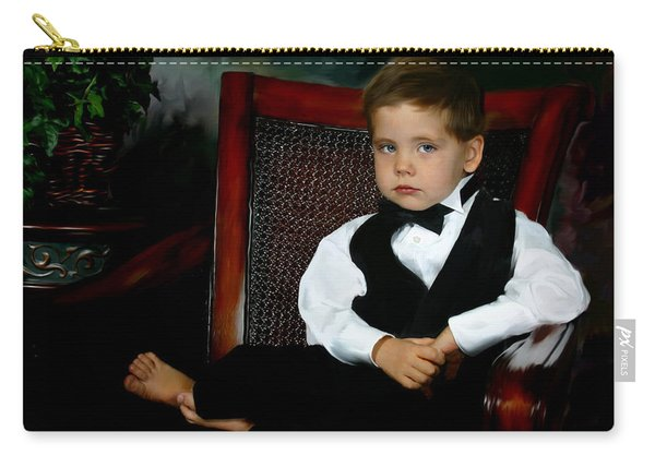 Digital Art Painting Of My Son Carry-all Pouch