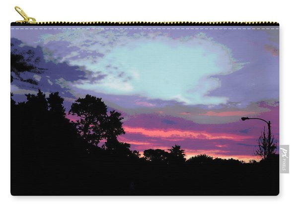 Digital Fine Art Work Sunrise In Violet Gulf Coast Florida Carry-all Pouch