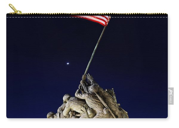 Digital Liquid - Iwo Jima Memorial At Dusk Carry-all Pouch