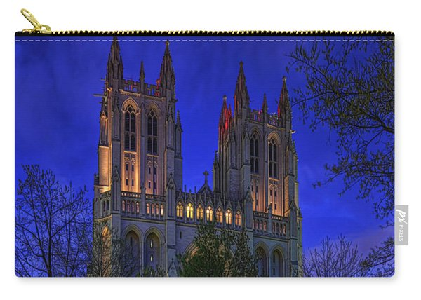 Digital Liquid - Washington National Cathedral After Sunset Carry-all Pouch