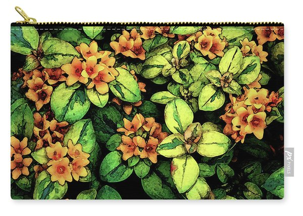 Digital Painting Quilted Garden Flowers 2563 Dp_2 Carry-all Pouch