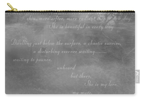 Digital Poem Carry-all Pouch