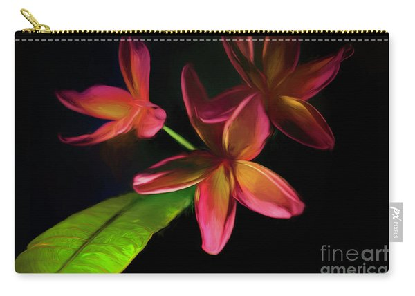 Digitized Sunset Plumerias #2 Carry-all Pouch