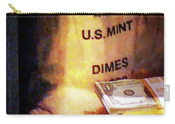 Dimes Dollars And Gold Carry-all Pouch