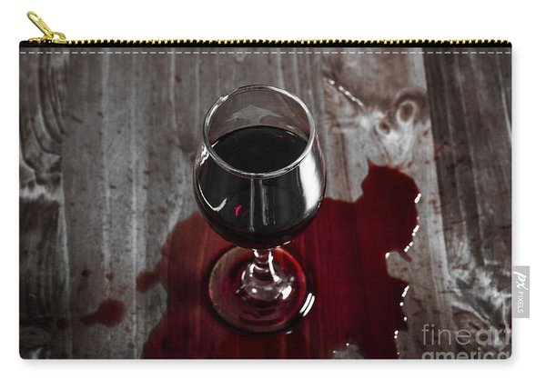 Diner Table Accident. Spilled Red Wine Glass Carry-all Pouch