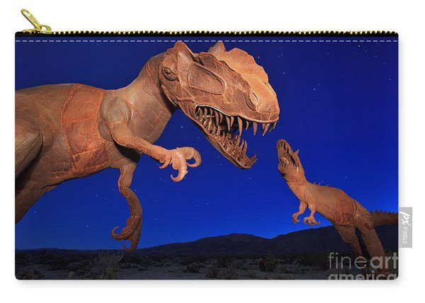 Carry-all Pouch featuring the photograph Dinosaur Battle In Jurassic Park by Sam Antonio Photography