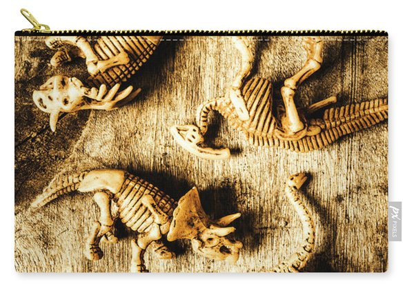Dinosaurs In A Bone Display Carry-all Pouch
