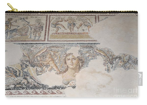 Dionysus Mosaic Mona Lisa Of The Galilee Carry-all Pouch