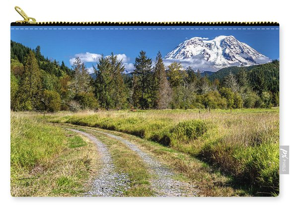 Dirt Road To Mt Rainier Carry-all Pouch