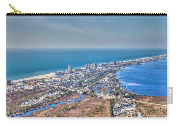 Distant Aerial View Of Gulf Shores Carry-all Pouch