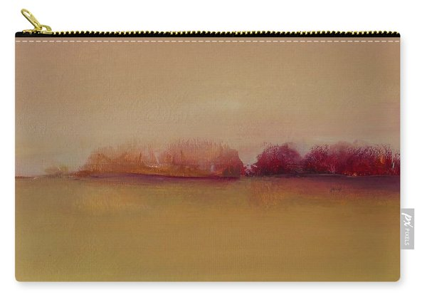Distant Red Trees Carry-all Pouch