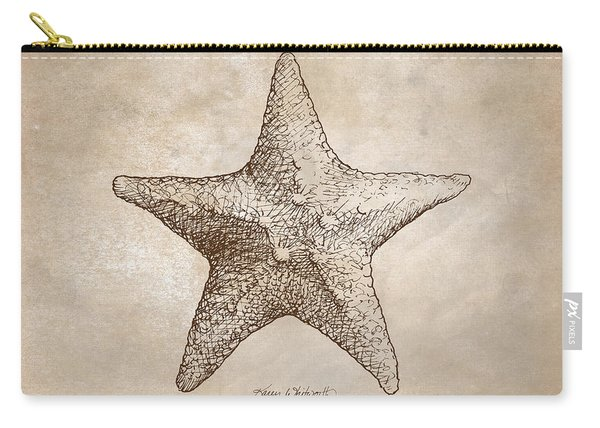 Distressed Antique Nautical Starfish Carry-all Pouch