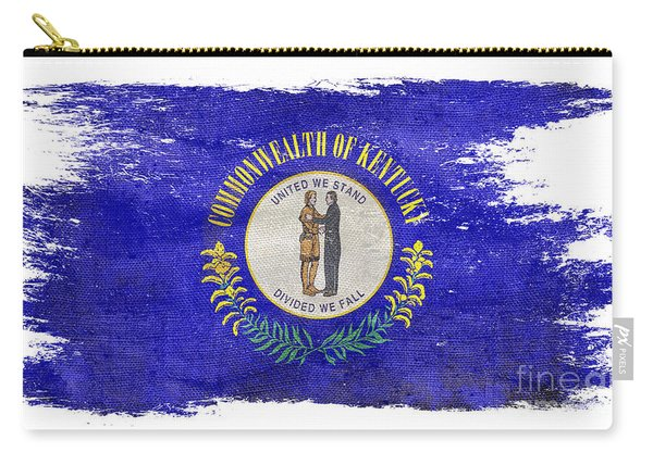 Distressed Kentucky Flag  Carry-all Pouch