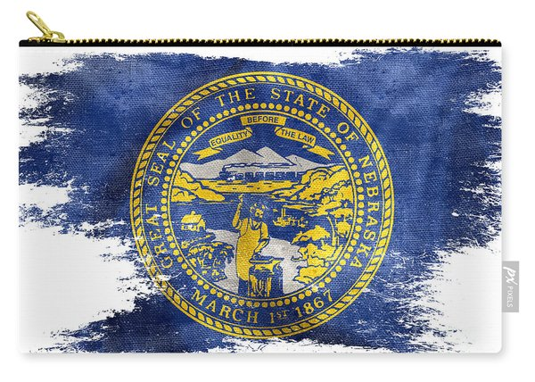 Distressed Nebraska Flag  Carry-all Pouch