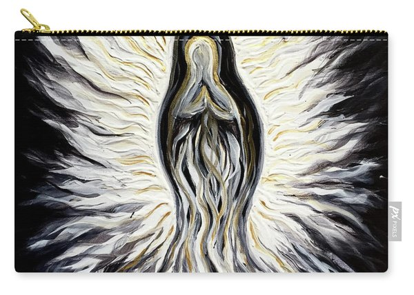 Divine Mother Black And White Carry-all Pouch
