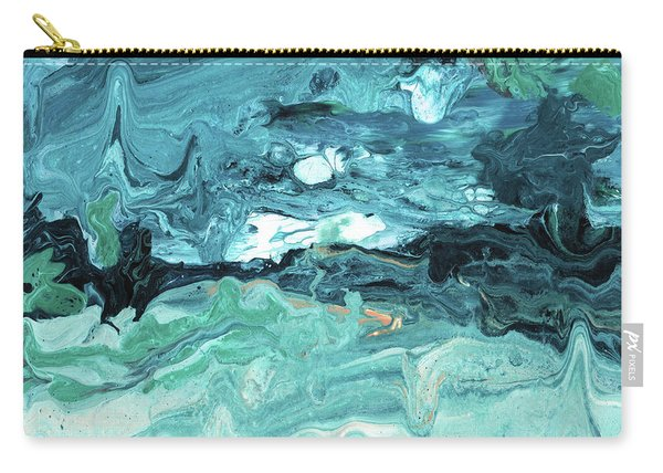 Diving In- Abstract Art By Linda Woods Carry-all Pouch