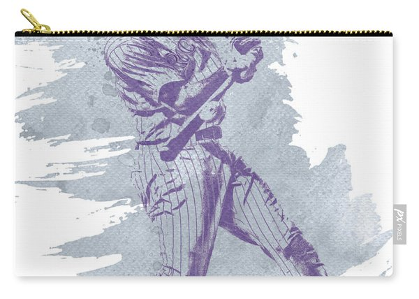 Dj Lemahieu Colorado Rockies Water Color Art 1 Carry-all Pouch