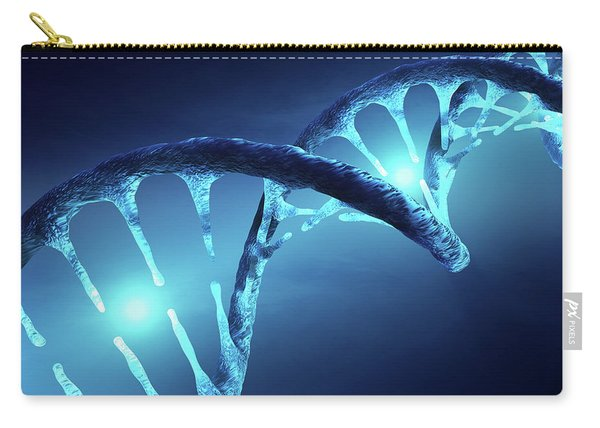 Dna Structure Illuminated Carry-all Pouch