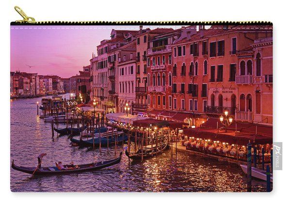 A Cityscape With Vintage Buildings And Gondola - From The Rialto In Venice, Italy Carry-all Pouch