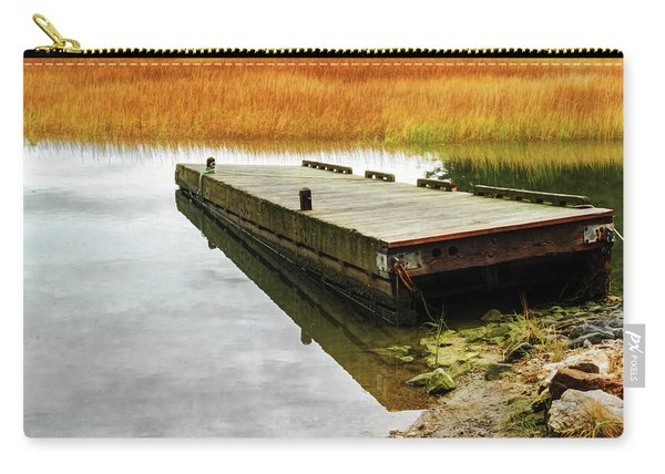 Carry-all Pouch featuring the photograph Dock And Marsh by Tom Singleton