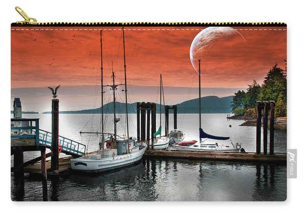 Dock And The Moon Carry-all Pouch