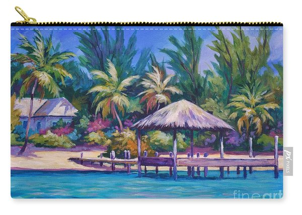 Dock With Thatched Cabana Carry-all Pouch
