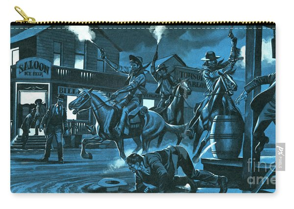 Dodge City At Night Carry-all Pouch