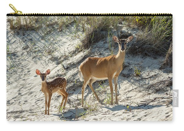 Doe And Fawn Carry-all Pouch