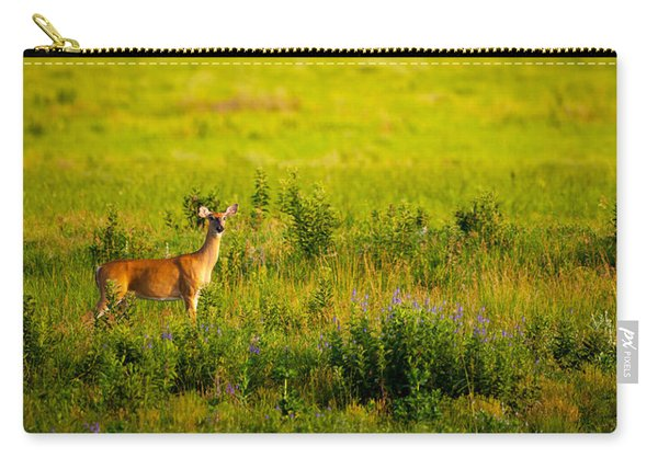 Whitetail Doe In Prairie Clover Carry-all Pouch