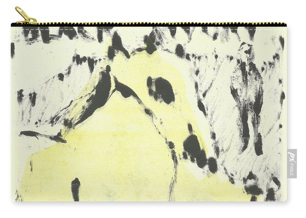 Dog At The Beach - Black Ivory 1 Carry-all Pouch